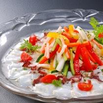 1月メニュー一例『蛸と野菜のマリネ』