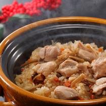 12月メニュー一例『鶏牛蒡御飯』