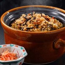 5月メニュー一例『ひじきと桜海老の炊込み御飯』