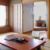 源泉露天風呂付 和洋室(一例)