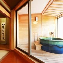 源泉露天風呂付 純和風客室(一例)