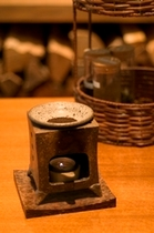 【茶香炉】燻した香ばしいお茶の香りで、お部屋でリラックスタイムを。