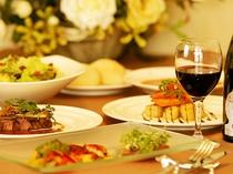 地元ブランド肉と旬の会津産野菜と果物をふんだんに使い手間暇かけた仏&伊のコース料理どうぞ!