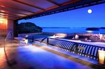 海と島を望むための絶景・屋上風呂「みはらしの湯」