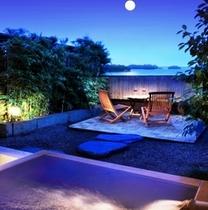 専用庭からは海と島が一望 客室すべて、部屋の作りがひとつひとつ違います