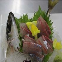 別注料理:鯵の刺身