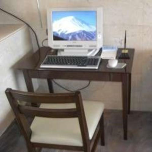 ロビーにある無料PC