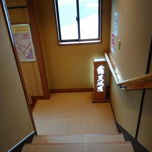 最上階露天風呂【富士見の湯】へ