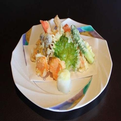 別注料理:蟹の天ぷら