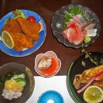 <ビジネス向け夕食一例>バラエティ豊か。