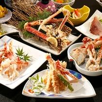 【夕食】高足ガニ4種味比べプラン