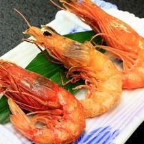 【料理】深海エビ3種の焼き物(赤エビ・本エビ・縞エビ)