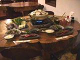 鴨鍋をメインにした夕食
