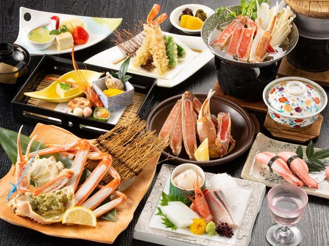 焼きガニ・ゆでガニ・天ぷら・小鍋など!全13品♪