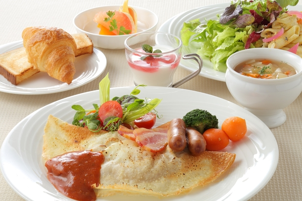 ◆【お部屋お任せプラン♪】天然温泉と野菜たっぷりの朝食で活力アップ!<朝食付き>