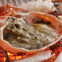 甲羅味噌の炭火焼