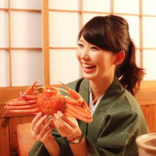 茹で蟹とモデル
