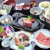 ◆ご夕食/山形牛鉄板ステーキ付和食膳※イメージ