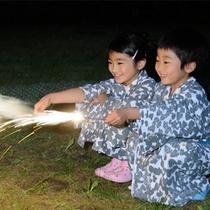 夏の夜は家族で花火!