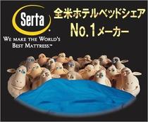 全米売上NO.1マットレス Sertaクィーン(160×195㎝)ベッド