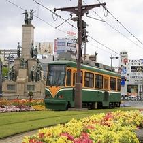 鹿児島の偉人と路面電車