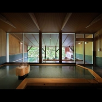 大浴場【樹來の湯】正面からのアングル