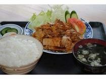 一富士の「生姜焼き定食」
