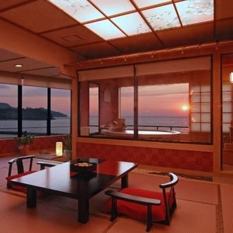【客室露天風呂付き】 夕陽見の角部屋