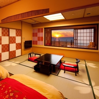 【客室露天風呂付き】 和室6帖+10帖