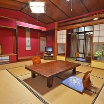 *【客室一例】加賀らしい壁が特徴のお部屋。