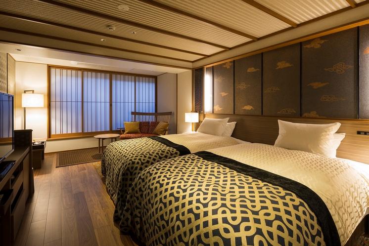 【客室】雲のねツインベッドルーム(一例)