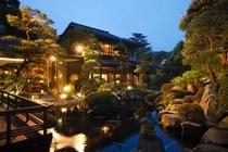 【庭園】夜の庭園