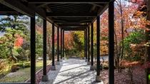玄関からのびる回廊。秋には紅葉を楽しむこともできる。