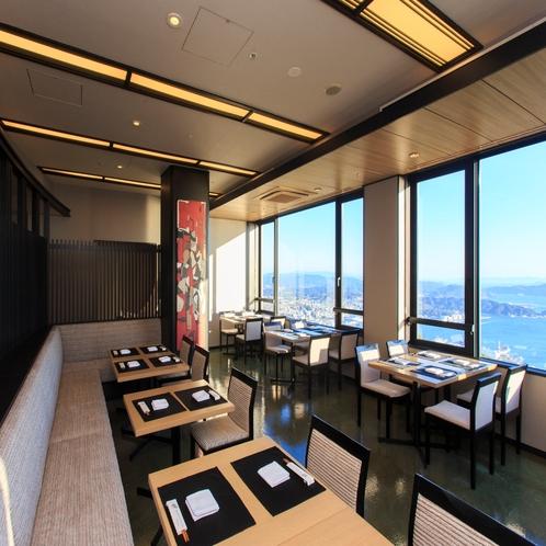 開放感のある和食レストラン「汐彩」
