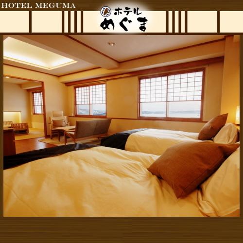 【声花フロア/和洋室53平米】〜最大5名まで宿泊可!小さいお子様連れならママと和室で一緒に♪〜