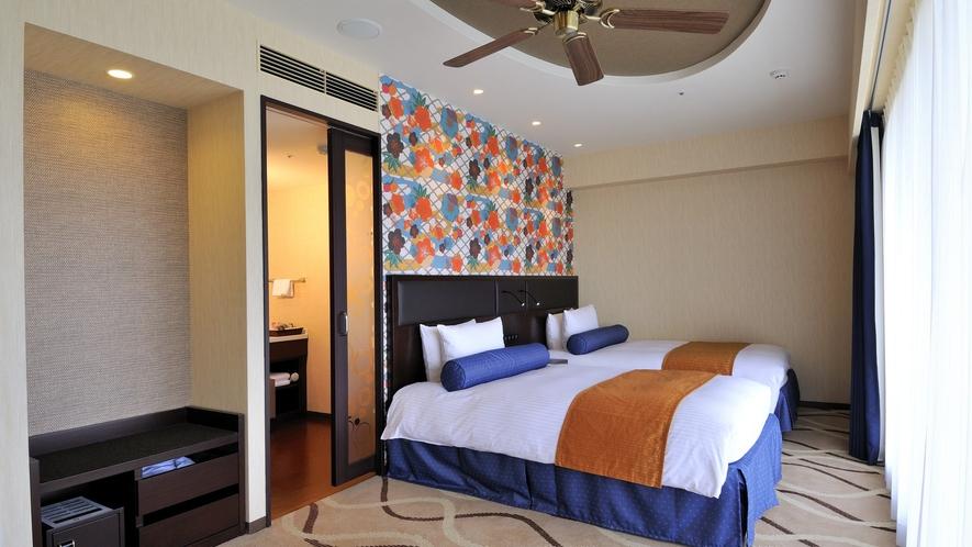 爽快感あふれる開放的な客室でリラックス~デラックスツイン(40.7平米)