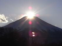 ペンションからのダイヤモンド富士