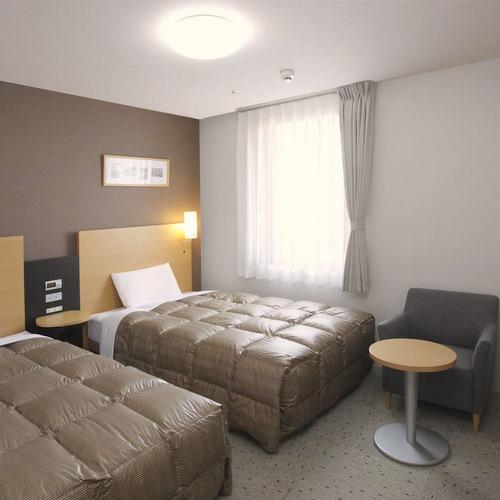 ◆ツインエコノミー◆ベッド幅123cm2台◆広さ19平米◆