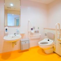 ◆パブリックトイレ◆ フロント階にバリアフリー対応トイレをご用意しています。
