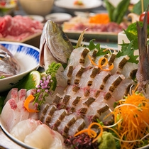 【料理】関サバ関アジのお造り