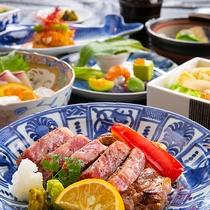 【特選和牛ステーキ】※表示画像はイメージです。季節などによりお料理内容が変わります。