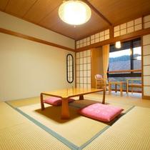 *【客室一例/和室8畳】広々とした和室です。足を伸ばしてゆっくりとお寛ぎください。