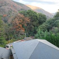 *【お部屋からの景観】ご案内するお部屋の位置により、箱根登山鉄道(スイッチバック)を眺められます。