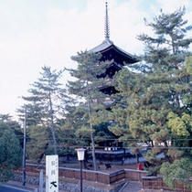*当館の目の前には興福寺の五重塔がございます。