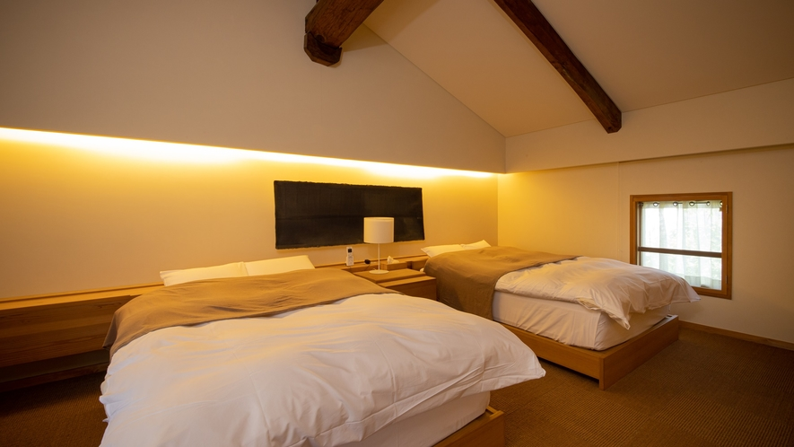 *【Room1・洋室】ダブルベッドが2台あるお部屋