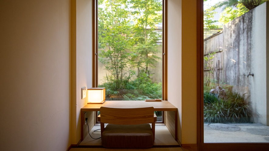 *【Room1・和室】プライベートガーデンを眺めながらのんびりお寛ぎください