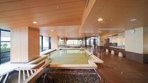 ◇【2F大浴場:織姫】総檜のお風呂で、木の優しい香りに包まれながら、美肌温泉の癒しを堪能