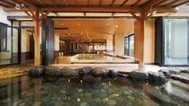 ◇【2F大浴場:露天風呂】露天から見える内湯の景色も素敵です。