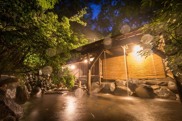 【半露天風呂付客室】楽天限定★ポイント10倍★創作料理と温泉を満喫2食付