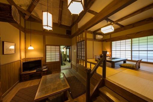 【リニューアル】内風呂付離れ和室【茶室・中庭付】